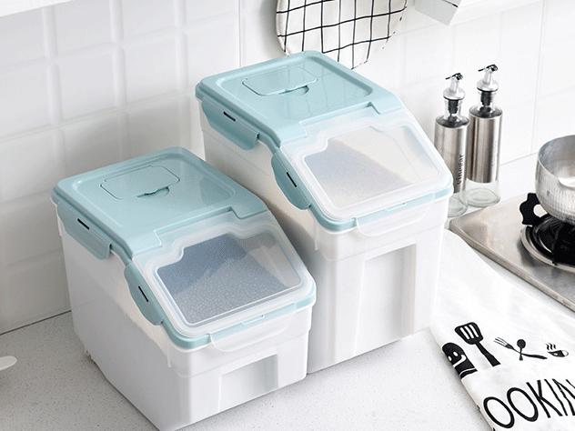 Amazon hot 10kgs 15kgs 25kgs Bpa kostenlos Katzenfutter Hundefutter Müsli Reis Küche Lebensmittel Kunststoff Aufbewahrung behälter mit luftdichtem Deckel