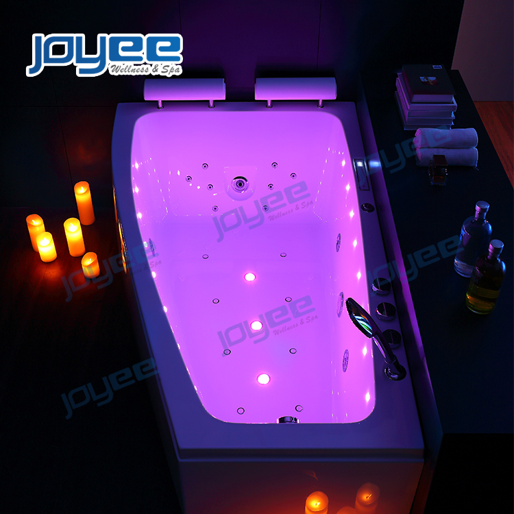 JOYEE  NEW design massage jacuzzi function bathtub/ indoor spa shower bath tub/ 2 persons household Badewanne mit Dusche und LED