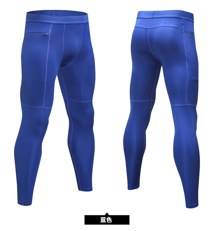 Men's Compression Baselayer Leggings Moisture-Wicking Pocket Active Tights 8