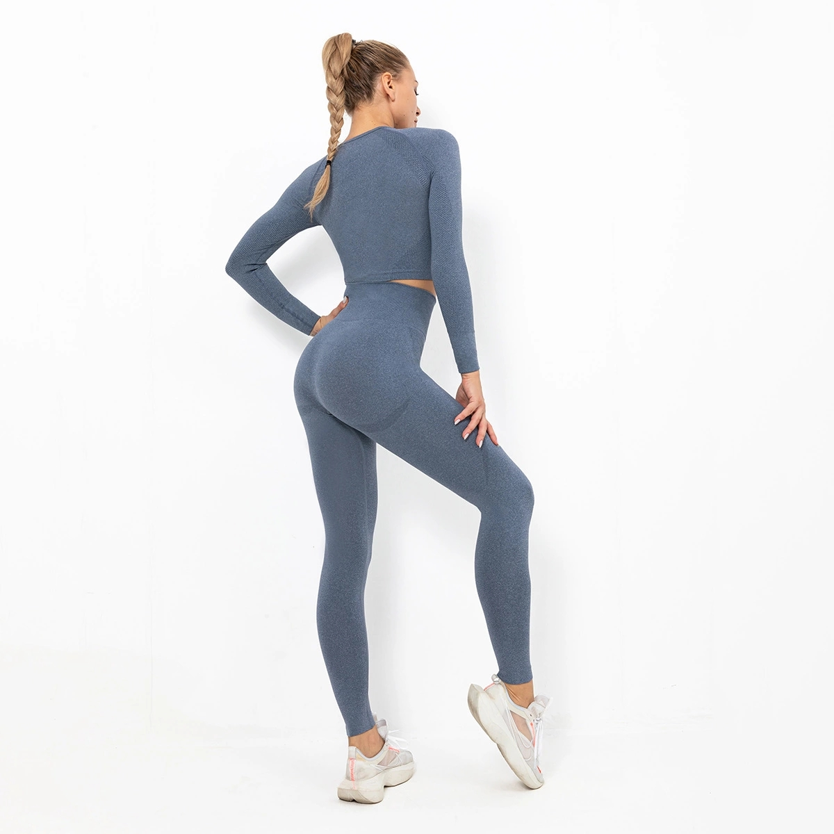 Ready to ship track and field fitness striped sports ladies yoga vest suit