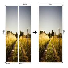 3D Европейский узор наклейки на двери ПВХ водонепроницаемые обои для дверей гостиной спальни домашний декор Настенная Наклейка для самосто...(Китай)