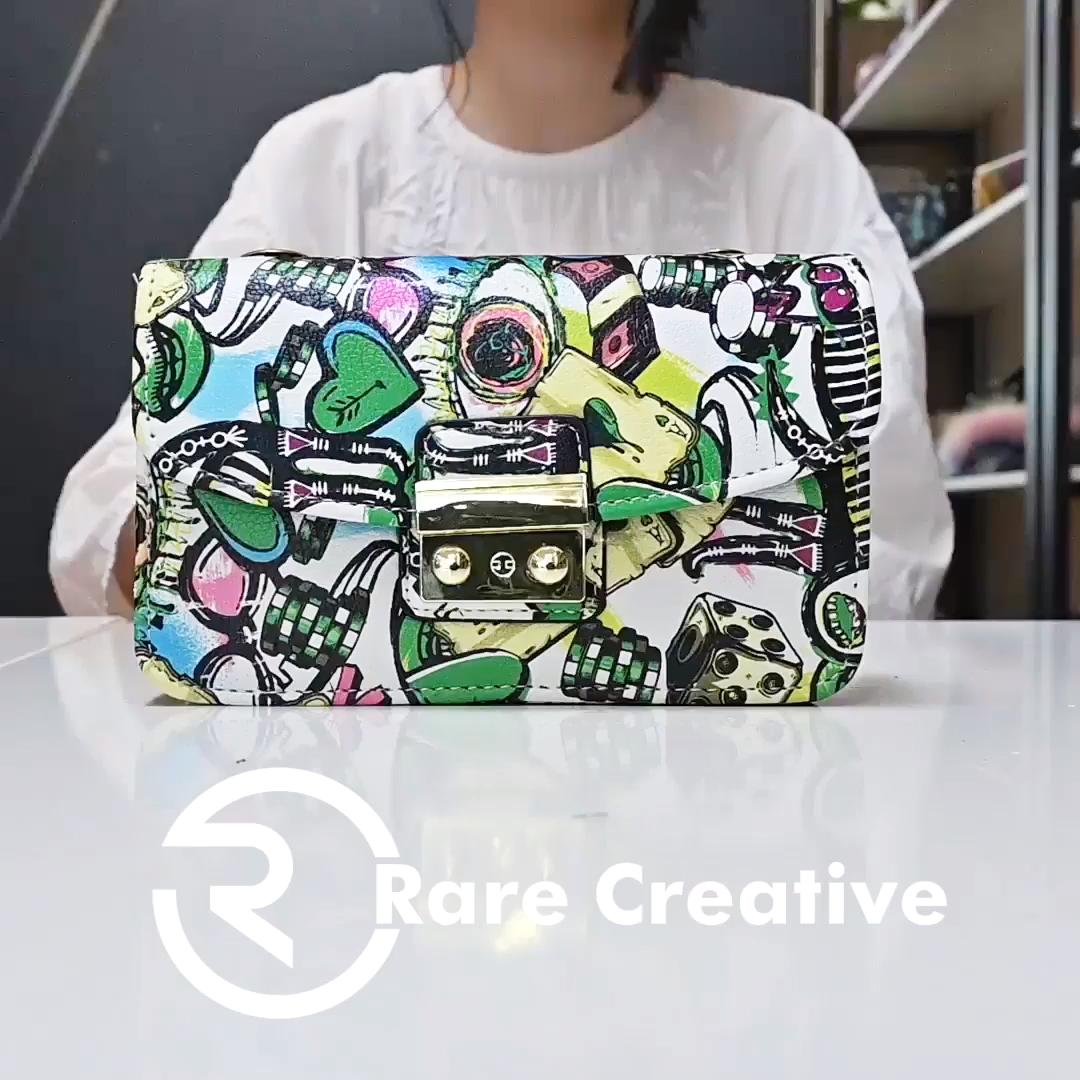 2020 crossbody graffiti purses sling bag women fashion design leather messenger bags