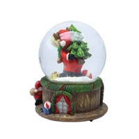 Resin christmas item souvenir wholesale diy glass snow globe kids holiday gifts