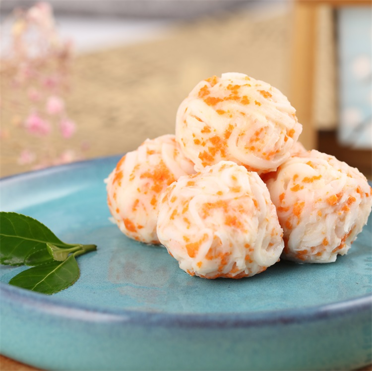 Chinese Feature frozen king crab surimi ball in seafood flavor for hotpot
