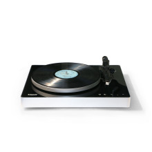 Fábrica de venda quente do <span class=keywords><strong>Vinil</strong></span> Vitrola HiFi Turntable com Anti-Skate Movimento Do Ímã Cartucho (Audio Technica EM 3600L) USB para PC