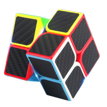 5CM 2x2x2 Large rounded corners Magic Cube With PE Carbon Fibre Sticker