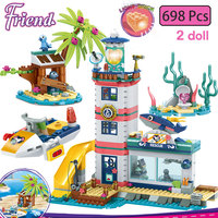 Girls 698pcs Lighthouse Rescue Center Building Blocks Compatible Legoinglys Friends Stacking Bricks Toys for Girls Children