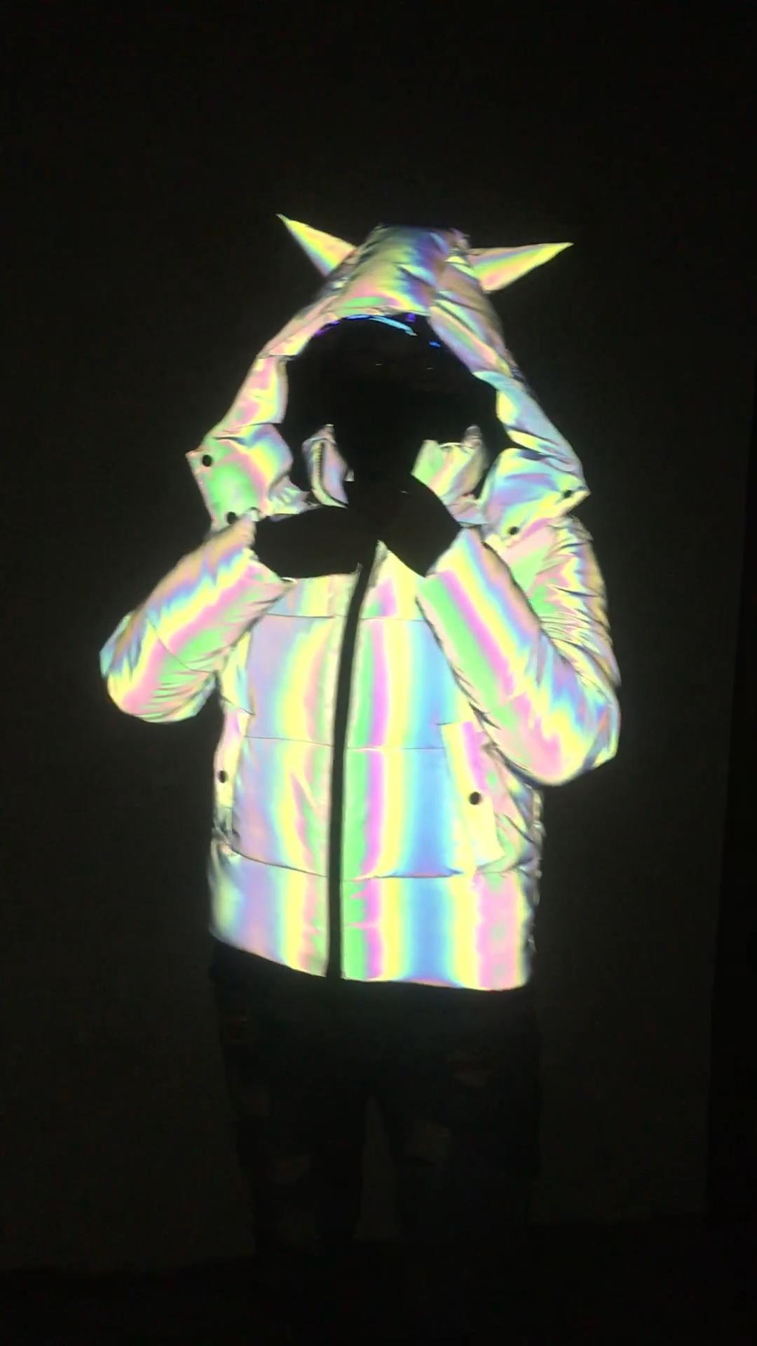 नई फैशन के लिए अनुकूलित गर्म बॉम्बर कोट पुरुषों आउटडोर चिंतनशील जैकेट सर्दियों
