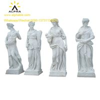 Outdoor Decorative Marble Life Size Female Garden Statues