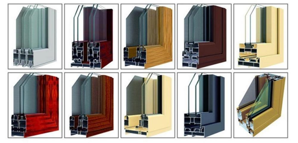 Low Cost Modern Design Aluminum Frame sliding Window