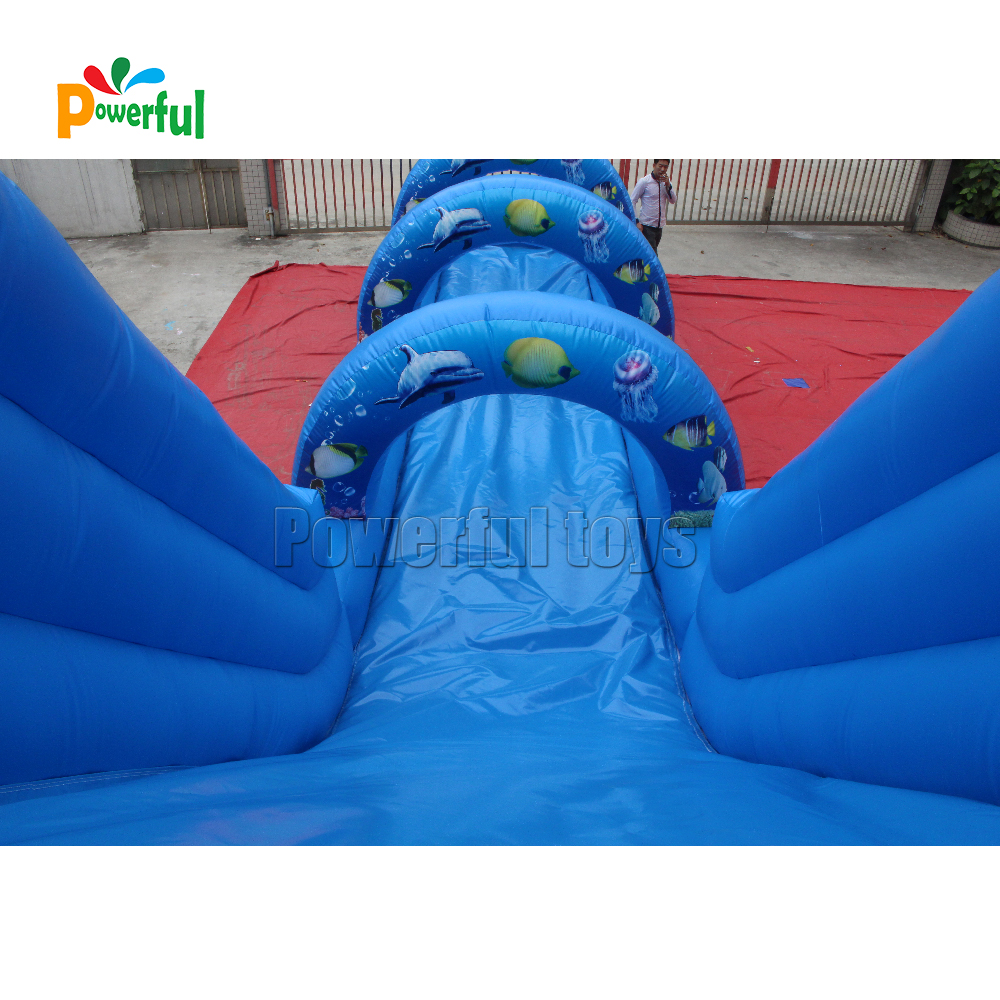 Kids commercial giant inflatable water bouncer slide with pool