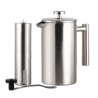 Highwin Factory 800ml Hot Sale Double Wall Cafetiere Expresso Stainless Steel Coffee Tea French Press
