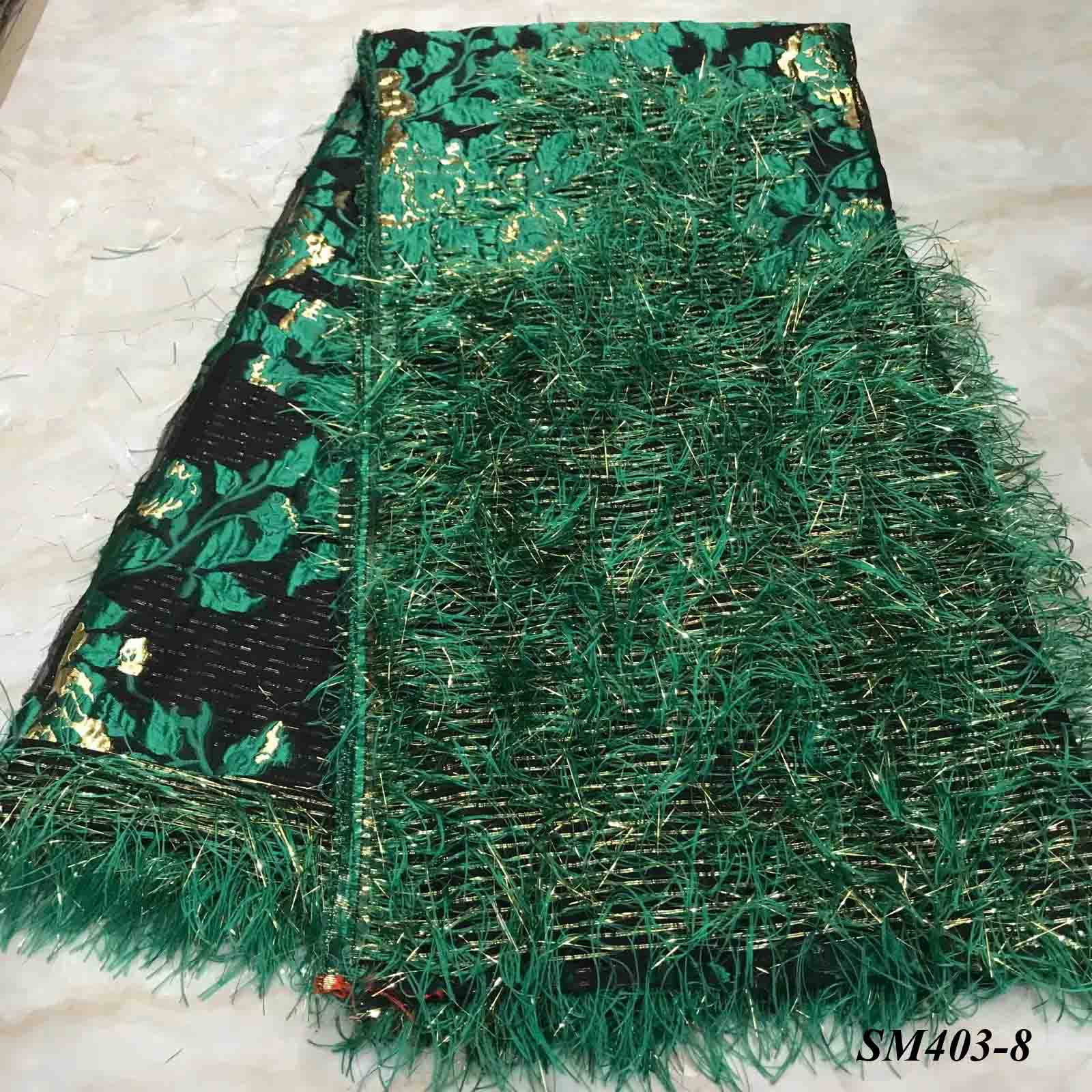 Beautiful green fringe lace with shinning sequin fringe for fashion dress garments