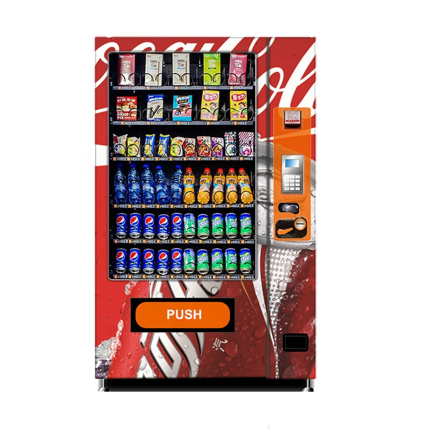 Best seller combo snack drinks vending machine with 360pcs capacity