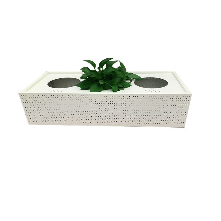 Office garden flower stainless steel planter box