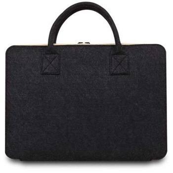 "Felt Carrying Case Cover Protective Bag with Handle & Pocket for 15"" MacBook Pro / Pro Retina - Dark Gray"