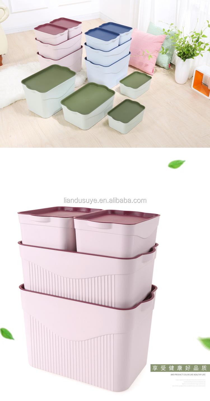 Popolare Caldo di Vendita di Piccola Dimensione Eco-Friendly Rettangolo Scatola di Immagazzinaggio Casa di Plastica