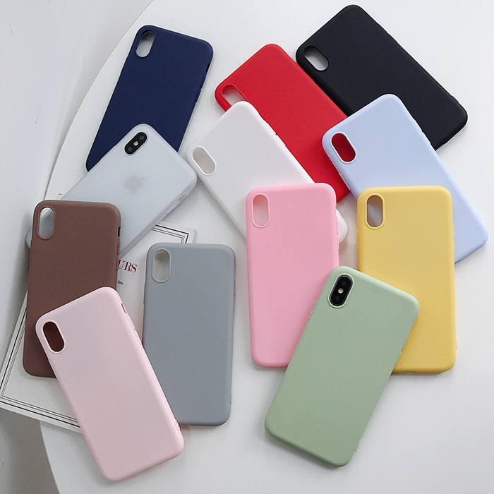 Matte color jelly tpu candy phone case for iphone x xr xs 11 pro max 2019