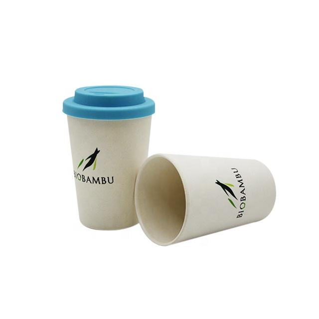 De fibra de bambú pequeña taza de café