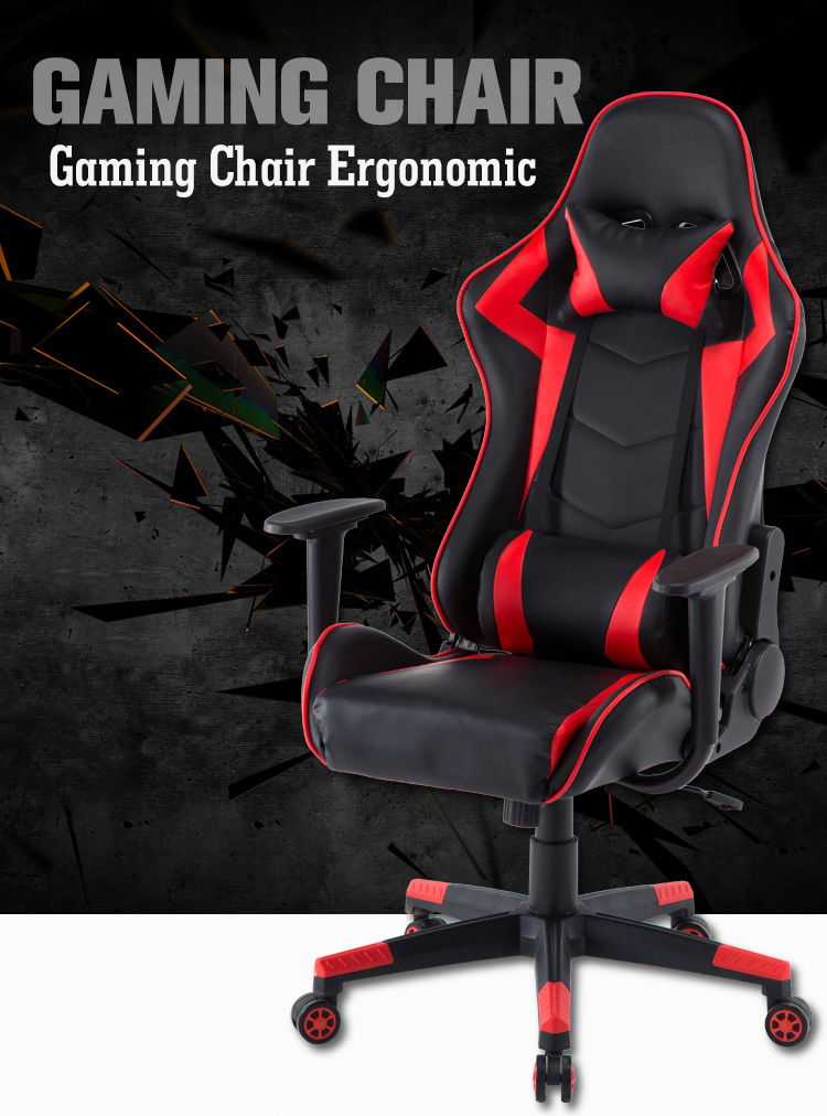 High Back Racing Style Ergonomic luxury modern office chair,Adjustable Armrest chair gaming office with Back Recliner Swivel Roc