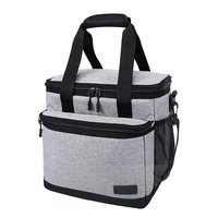 Lightweight Custom Eco-friendly Wine Lunch Bag Grey Insulated Ice Cooler Bag