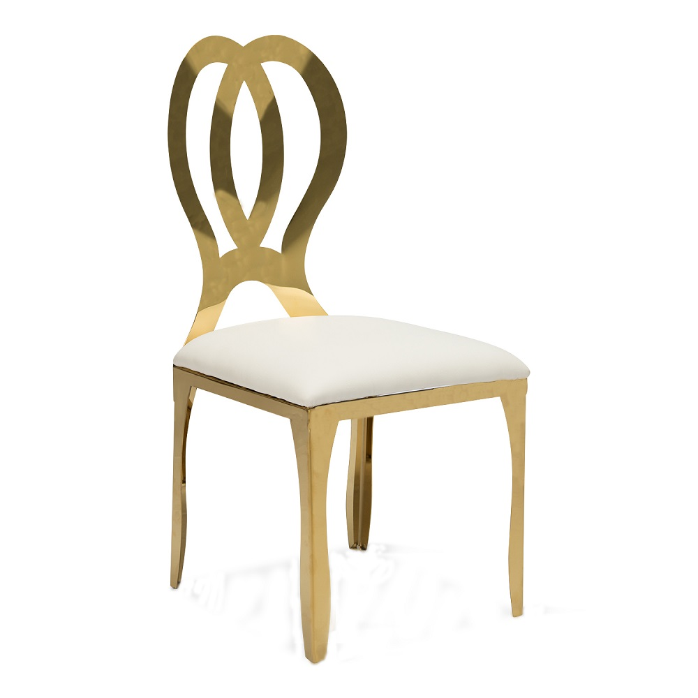 gold banquet restaurant cafe stainless steel infinity leisure dinning butterfly <strong>chair</strong> for wedding