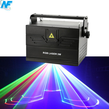 led stage lights SD card 30kpps 3 watt rgb full color outdoor 3d animation laser light