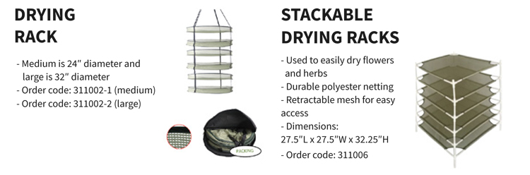 Tier Collapsable Hydroponics Herb Dry Net Plant Drying Rack