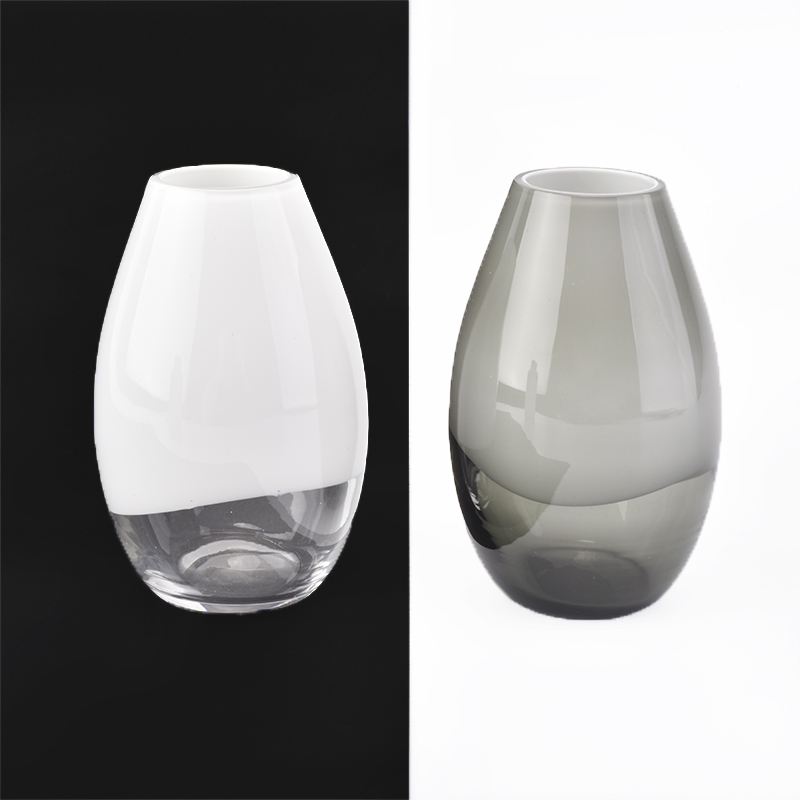 Grey overlay glass diffuser bottle glass vessels