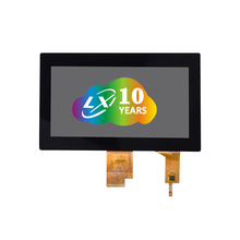 LXDislay OEM IPS 1024*600 7.0 นิ้วหน้าจอ TFT LCD LVDS Interface 500nits <span class=keywords><strong>ความสว่าง</strong></span>,high Contrast Capacitive Touch Screen Monitor