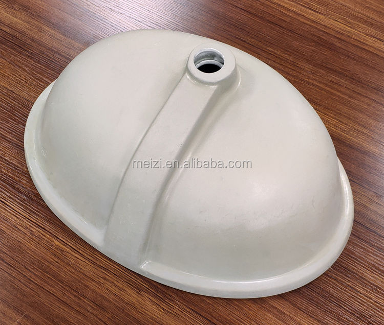 oval shaped porcelain under counter bathroom small wash basin