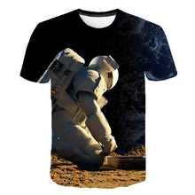 Футболка с объемным рисунком из мультфильма «звездное небо» для детей; Летняя Повседневная забавная футболка с космонавтом для мальчиков; ...(Китай)