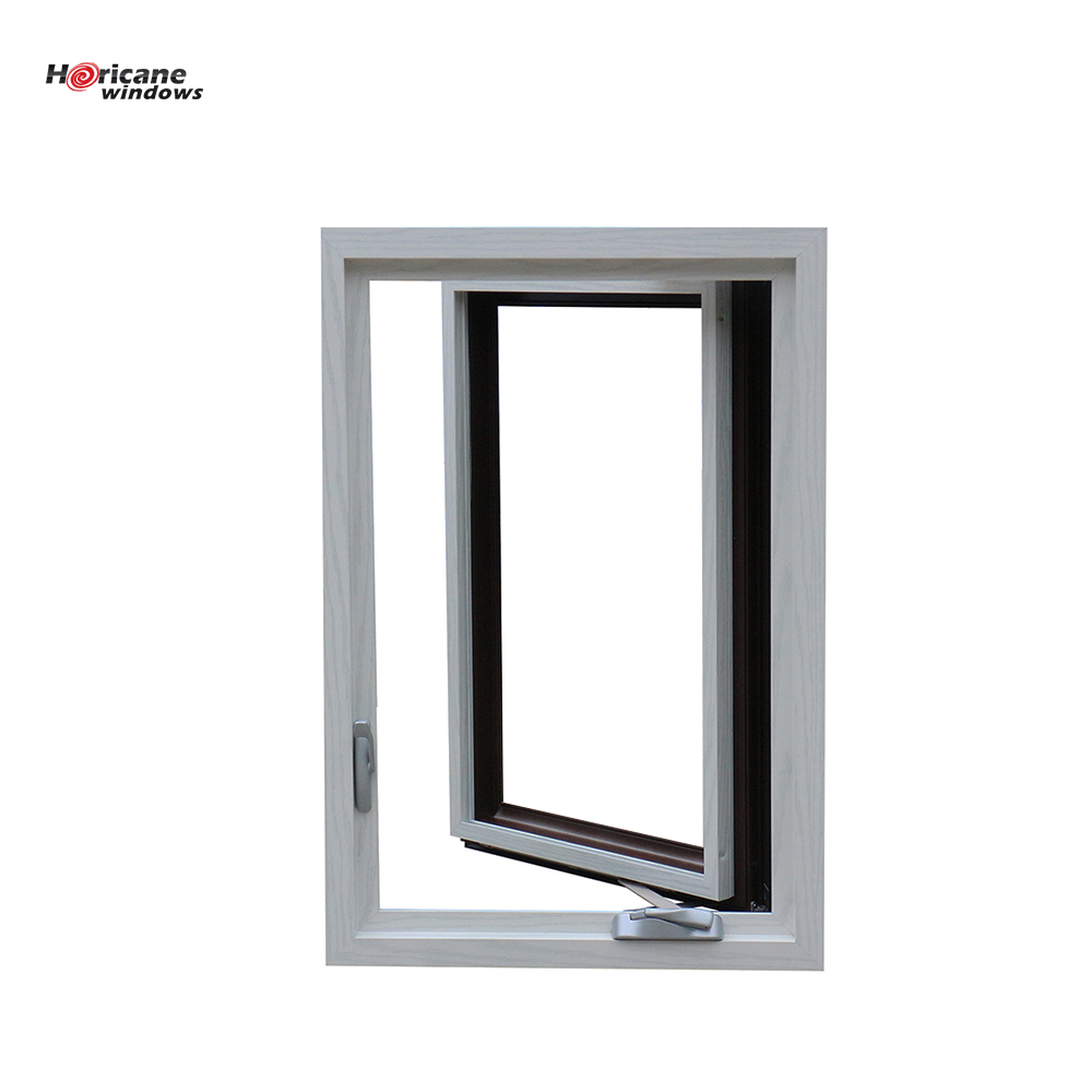 NFRC Approved large anodized commercial aluminum casement hurricane impact windows for sale