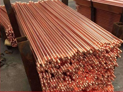 Hot selling copper bonded earth rod, pure copper earth rod for earth system