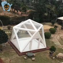 3 M X 3 M X 3 M Outdoor Camping Sterrenhemel Opblaasbare Clear Piramide Bubble Tent