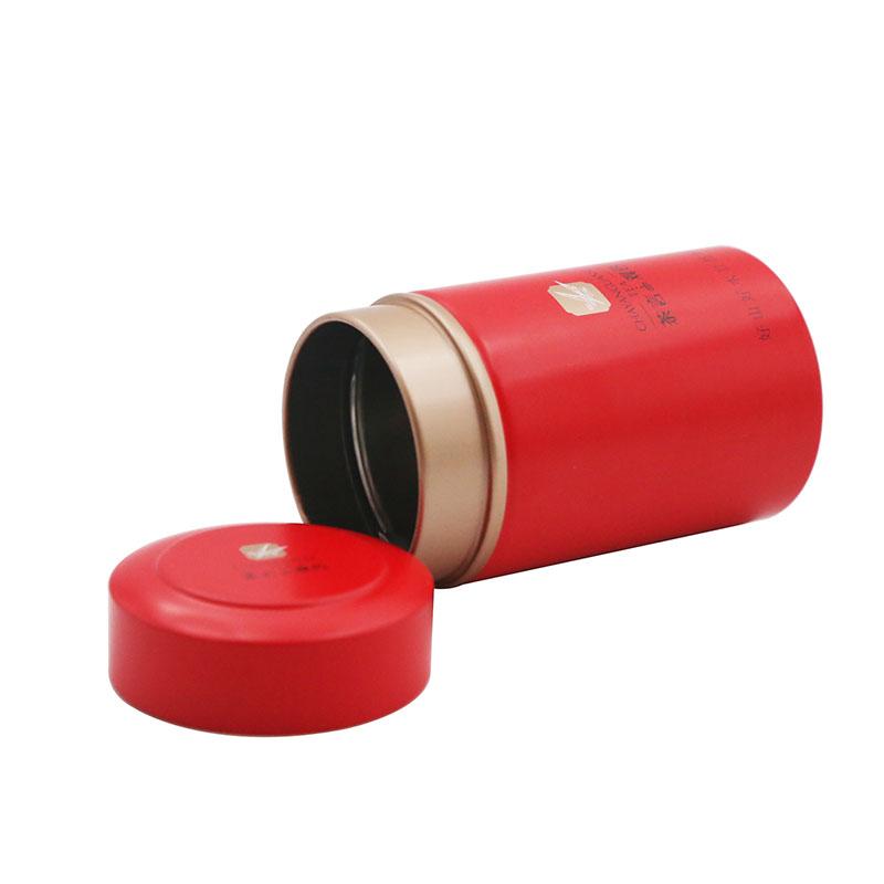 Food grade empty round airtight tea tin box for tea storage