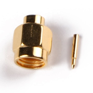 Free sample sma connector female with solder type rg179 rg316 rg174 cable conector for compression rg59