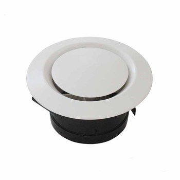 air conditioner ventilation Installed directly round ceiling ABS plastic air vent valve