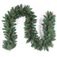 Special Wholesale Premium Plastic Artificial Green Christmas Garland For Home Decoration