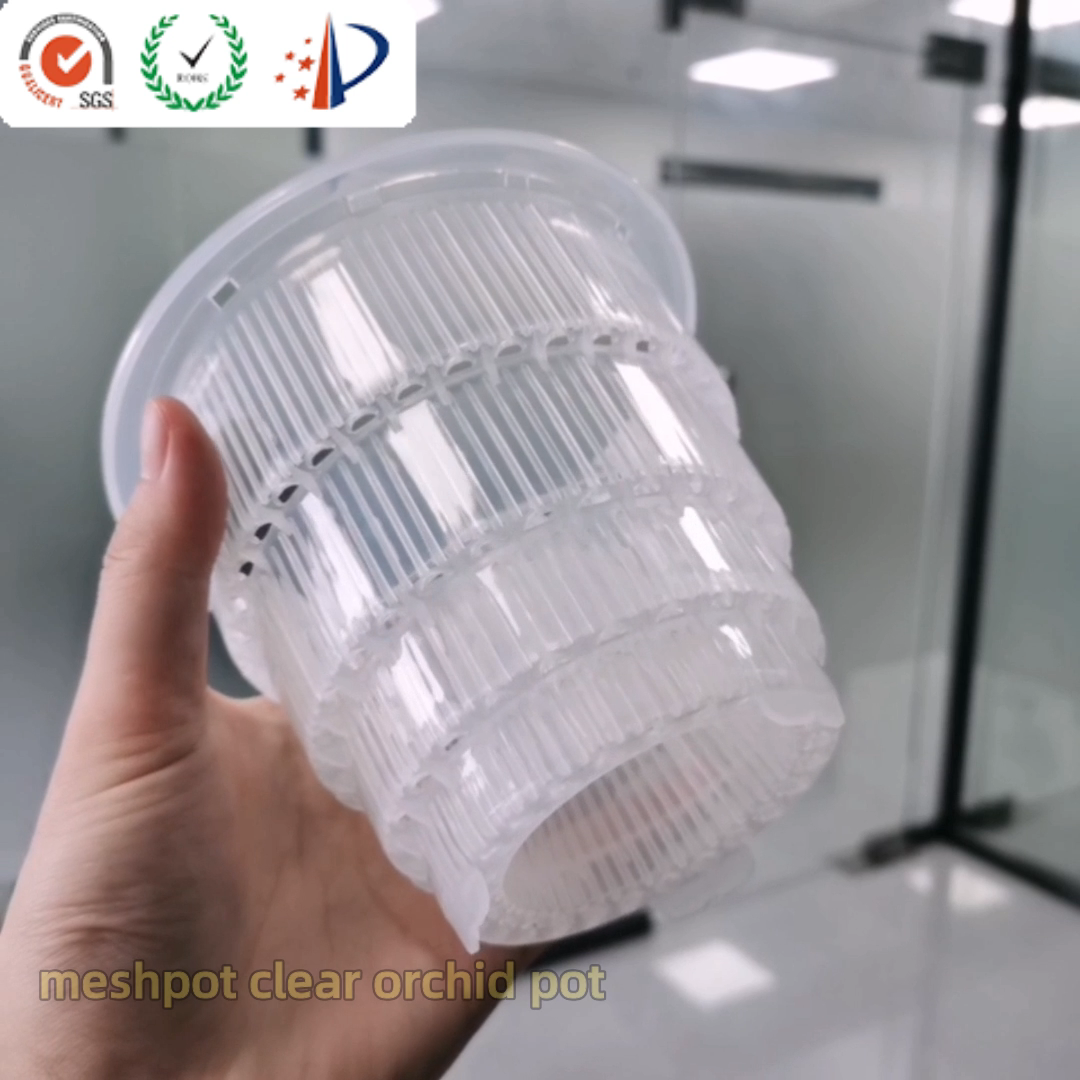 Meshpot Clear Plastic Orchid Pots With Holes
