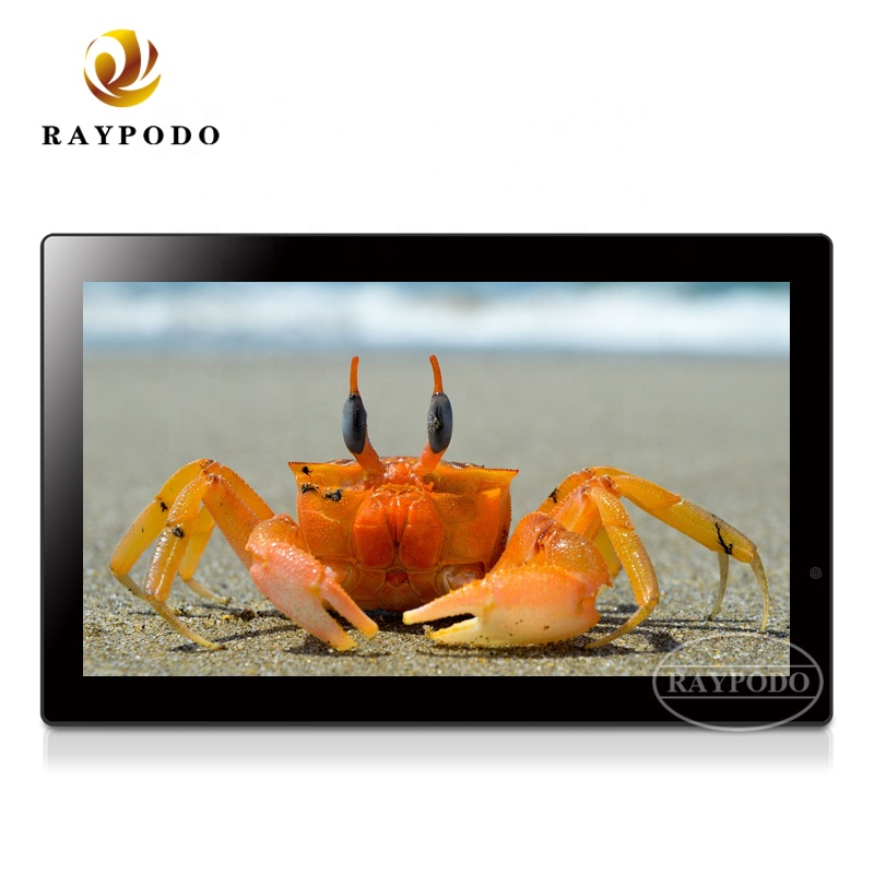 Raypodo 21.5 inch wall mounted digital photo frame with <strong>video</strong> for advertising