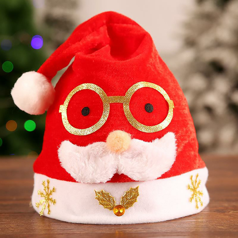 2020 Santa Clasuse Hats Red Lighting Christmas Cap For Christmas Day Costume Cosplay Party