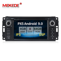 PX5 MEKEDE Android 9.0 8 core 4G+32/64g Car DVD For Jeep Grand Cherokee Commander Wrangler Chrysler 300C PT Cruiser Sebring WIFI