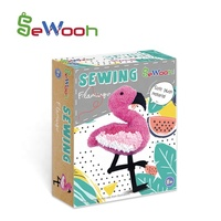 2020 Kids DIY Flamingo Fabric Sewing Craft Kit for Children