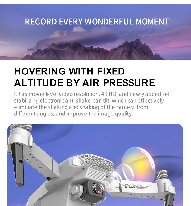 2021 Global Trending on Amazons Online 720P 4K Dual Drone Camara  VS Mavic Mini Air Drone E58 E88