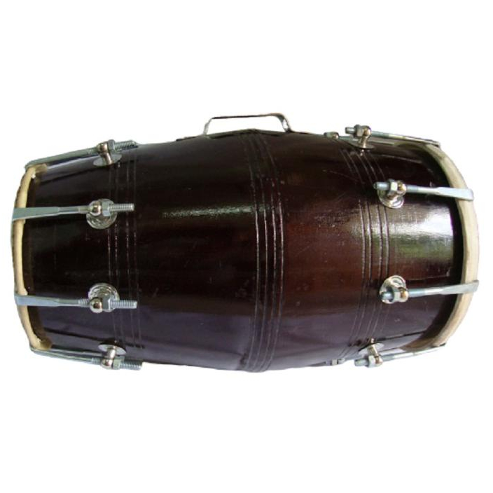 Dholak Indian Musical Instrument Dholki Drum Nuts N Bolt Dark Color Free Ship
