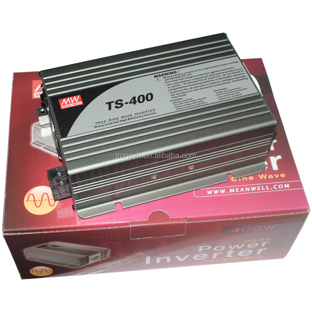 Meanwell TS-400 400W DC-AC Inverter Power Inverter Pure Sine Wave Support Home,Office,Vehicle