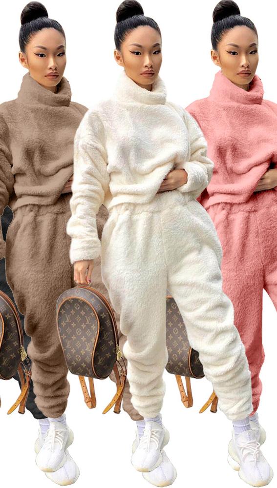 Женский комплект из двух предметов, весенняя одежда с высоким воротником, весна 2021