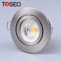 New mini trimless fixed cob spot downlight recessed gu10 g5.3 lamp led spotlights fixture
