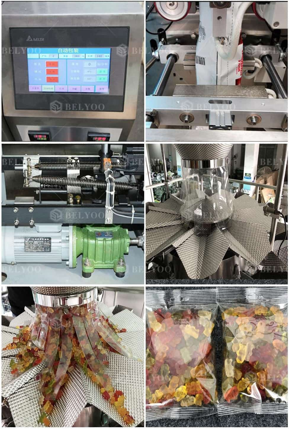 Hot Sale Potato Chips Automatic Packing Line /French Fries Bag Weighing Filling Sealing Machine
